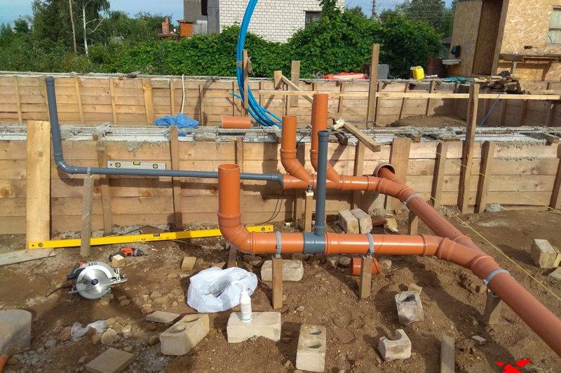 Монтаж сетей канализации в частном доме