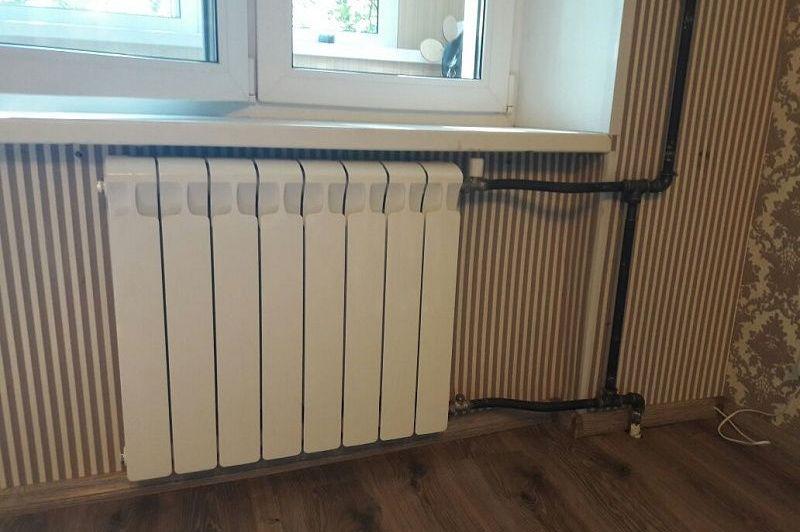 Перенос радиаторов отопления на стену