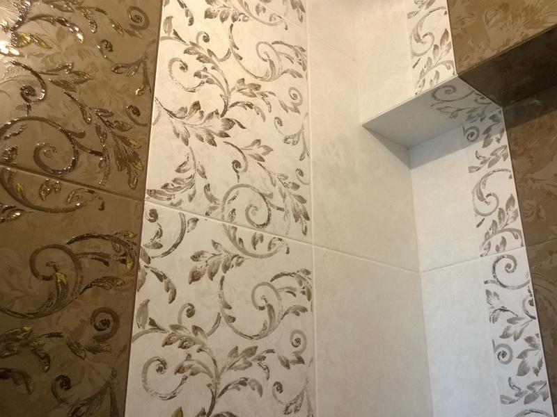 Керамическая плитка на стене