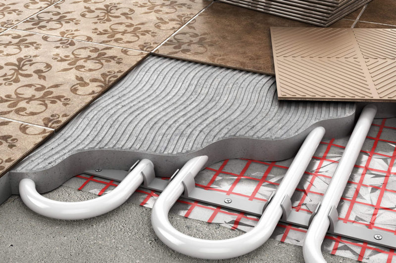 Плитка и водяной теплый пол