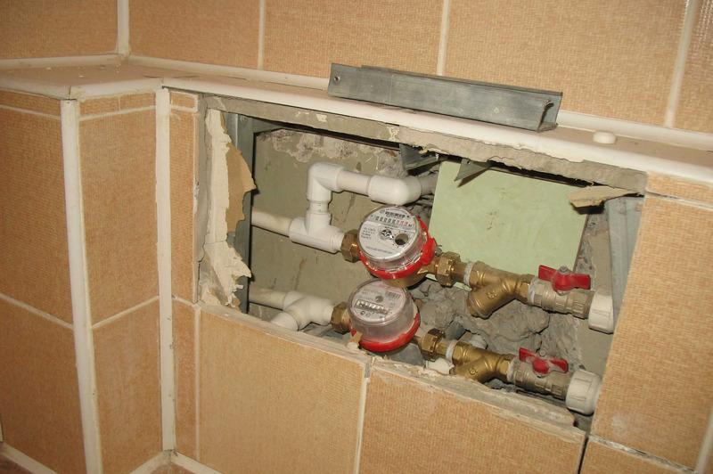 Услуга установки счетчиков горячей воды