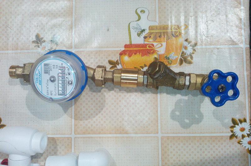 Услуги по установке счетчика холодной воды