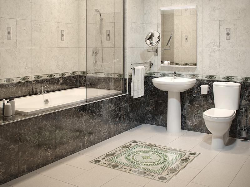 Плитка уложенная в ванной
